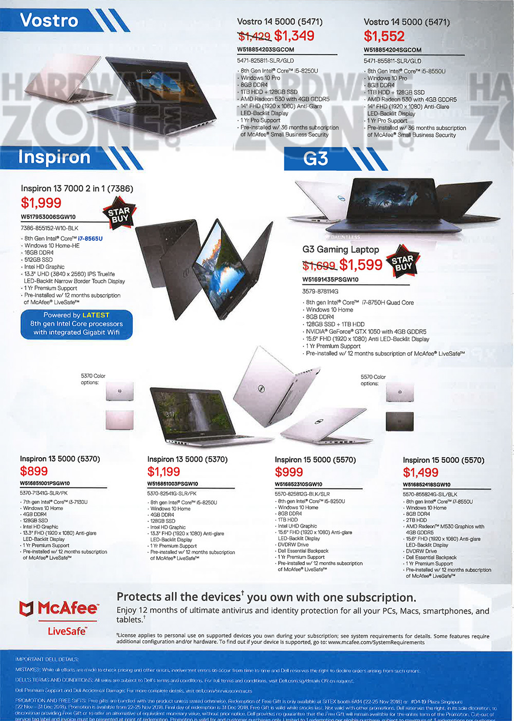 Dell notebooks Brochures from SITEX 2018 Singapore on Tech