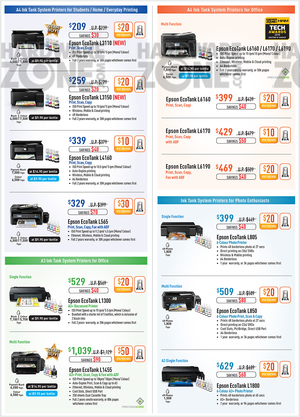 Epson Printers - Pg 3 Brochures from SITEX 2018 Singapore on Tech