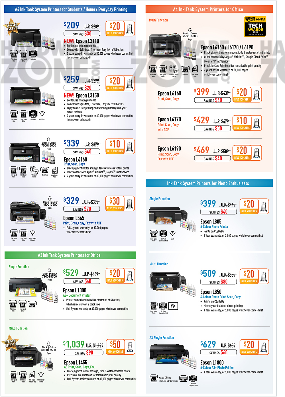 Epson Printers - Pg 2 Brochures from The Tech Show 2018 Singapore on