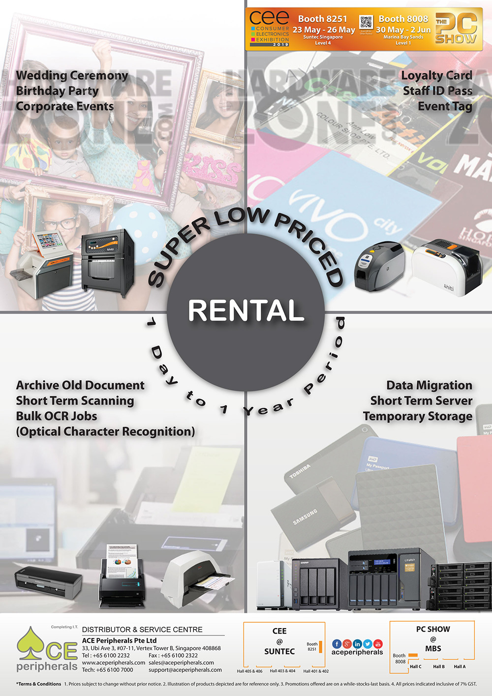 Ace Peripherals - Rental Service