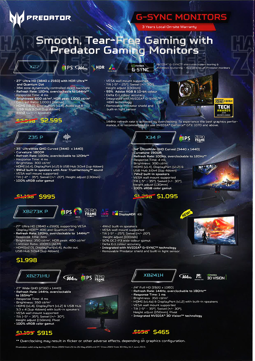 Acer Monitors - pg 4 Brochures from CEE 2019 on Tech Show Portal