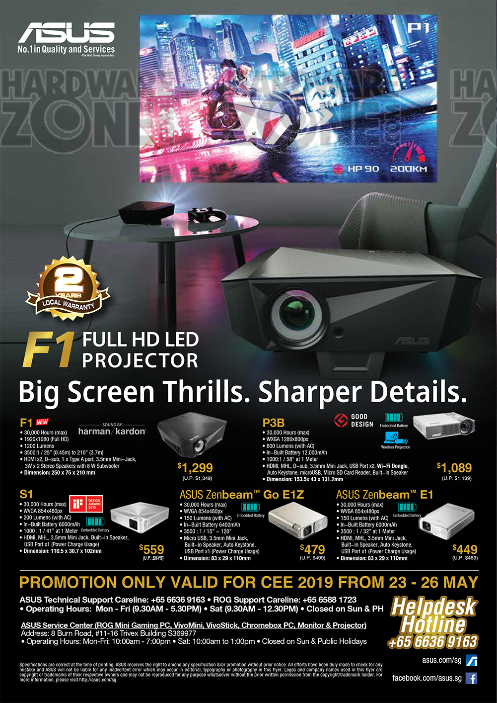 ASUS - Projectors Brochures from CEE 2019 on Tech Show