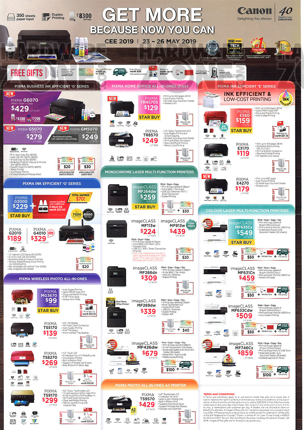 Canon Printers - pg 2 Brochures from CEE 2019 on Tech Show