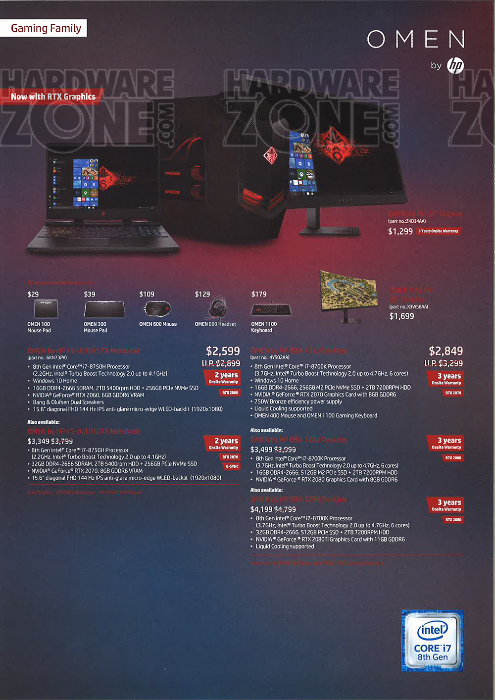HP Omen Brochures from CEE 2019 on Tech Show Portal
