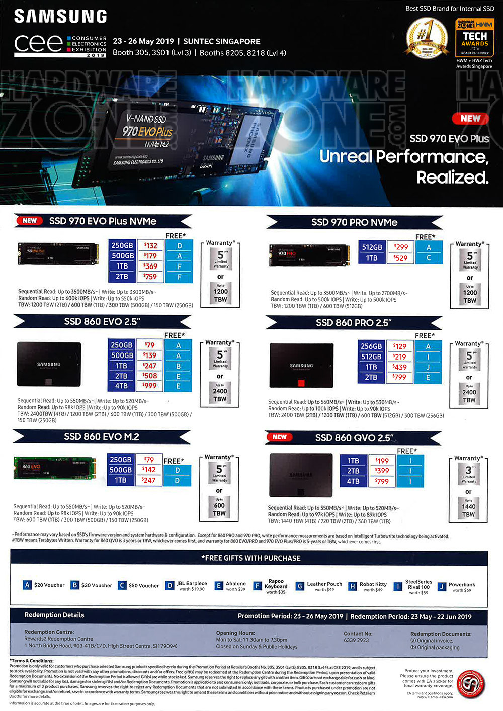 Samsung Storage - pg 2 Brochures from CEE 2019 on Tech Show