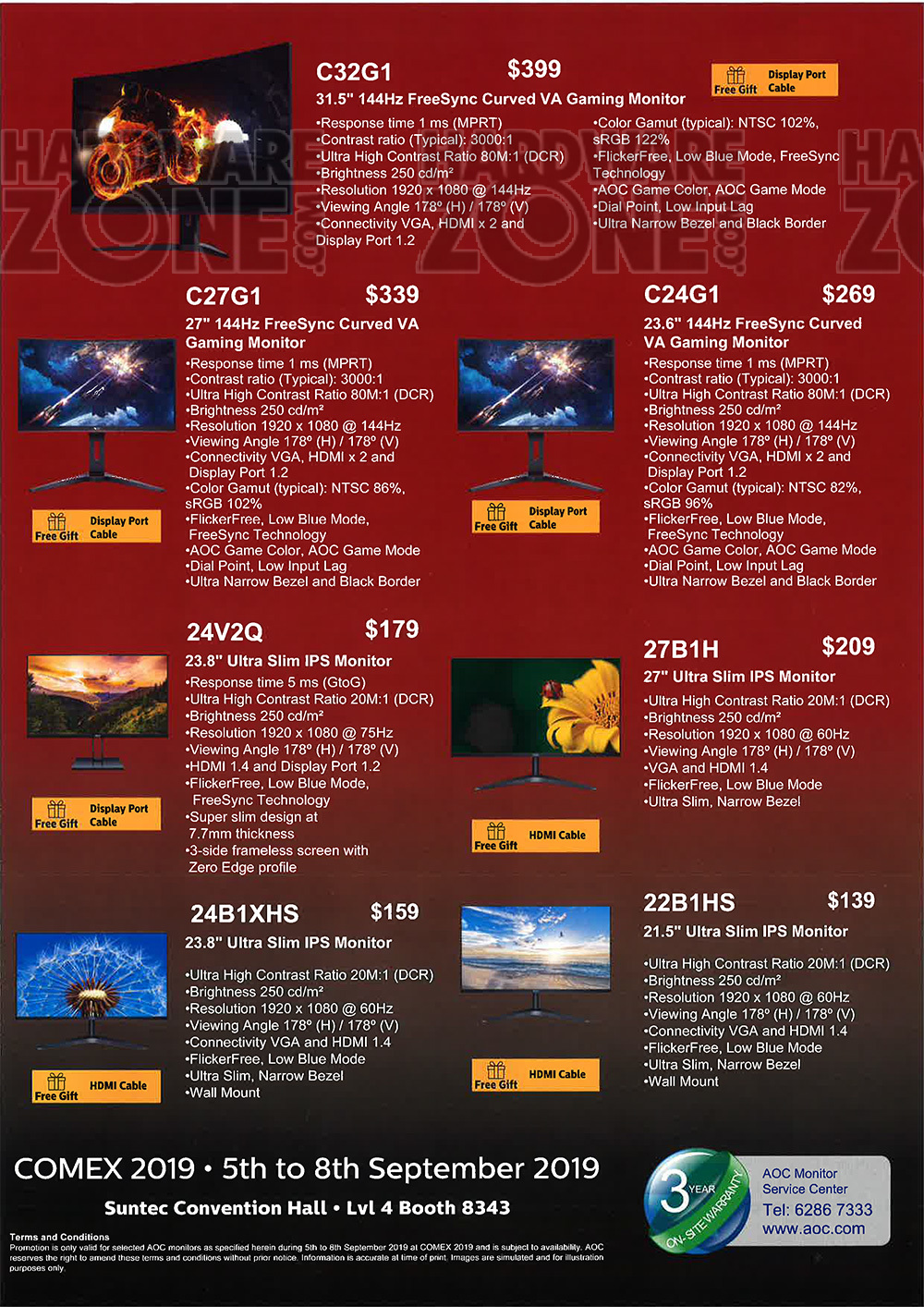 AOC monitors - page 1 Brochures from COMEX 2019 Singapore on