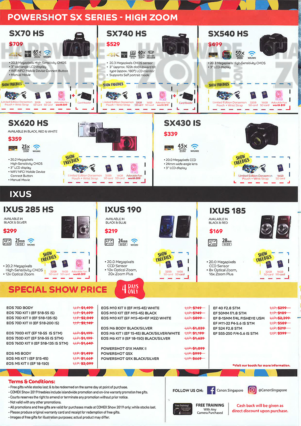 Canon cameras - page 4 Brochures from COMEX 2019 Singapore