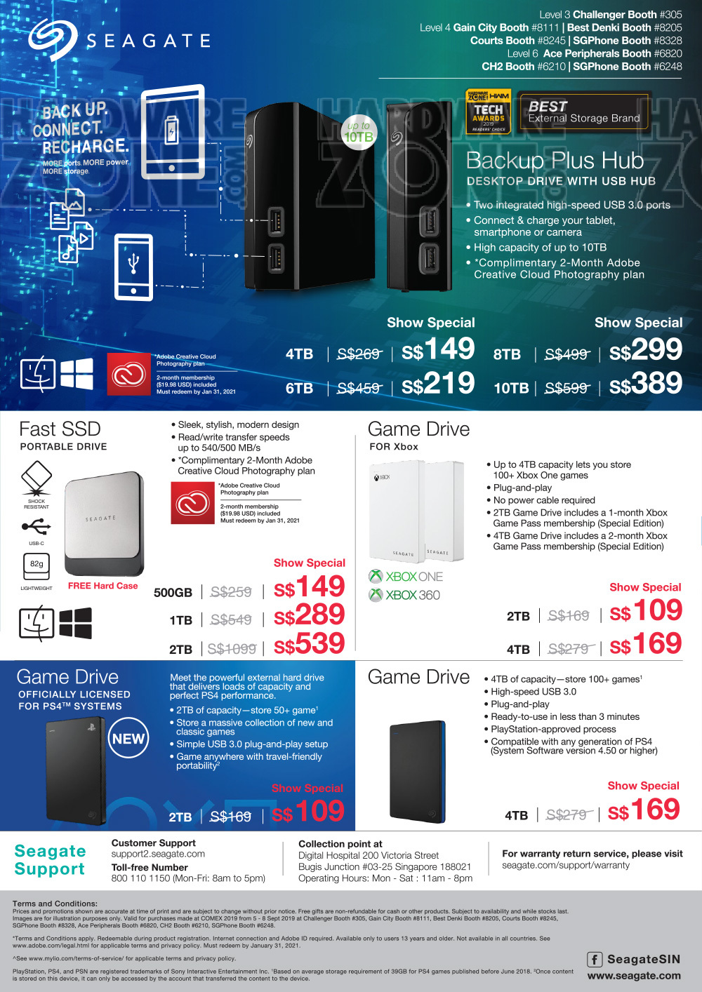 Seagate - page 3 Brochures from COMEX 2019 Singapore on Tech