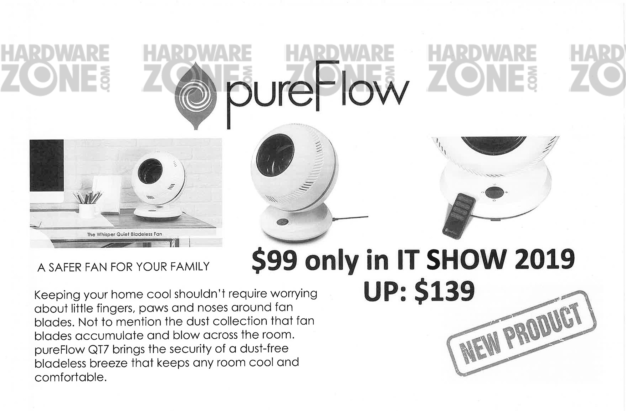 PureFlow child-safe fan