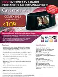 Cayenne Portable Internet TV and Media Player