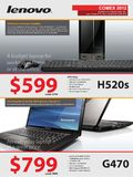Lenovo Notebooks and Desktops