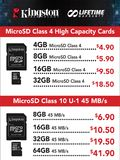 Kingston microSD Cards - Page 1