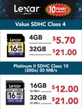 Lexar Value SD Cards