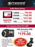 Transcend SSDs & Car Camera