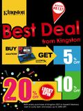 Kingston SSD and memory deals