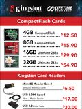 Kingston flash memory cards - page 1