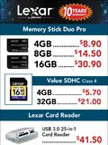 Lexar flash memory cards - page 1