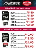 Transcend flash memory cards - page 1