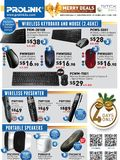 Prolink Input Devices & Speakers