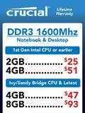 Crucial DDR3 memory