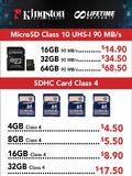 Kingston MicroSD and SDHC