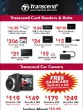 Transcend Card Reader, Hub, Car Cam