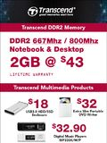 Transcend DDR & MultiMedia Products