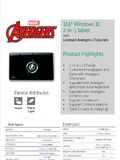 WMP Avengers 2-in-1 Tablet - Pg 3