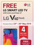 LG V40 ThinQ Free TV Deal