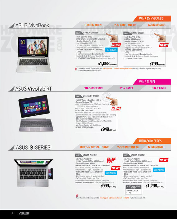 ASUS notebooks - Page 15