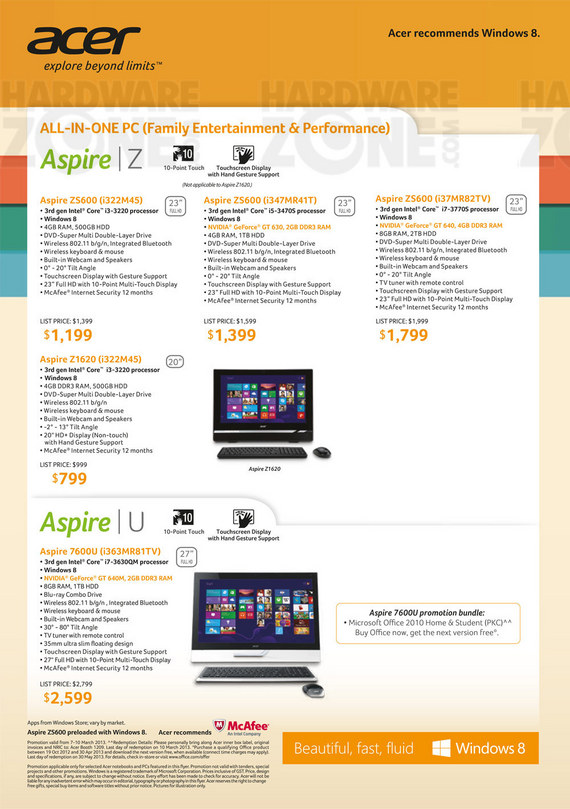 Acer desktop PC - page 1