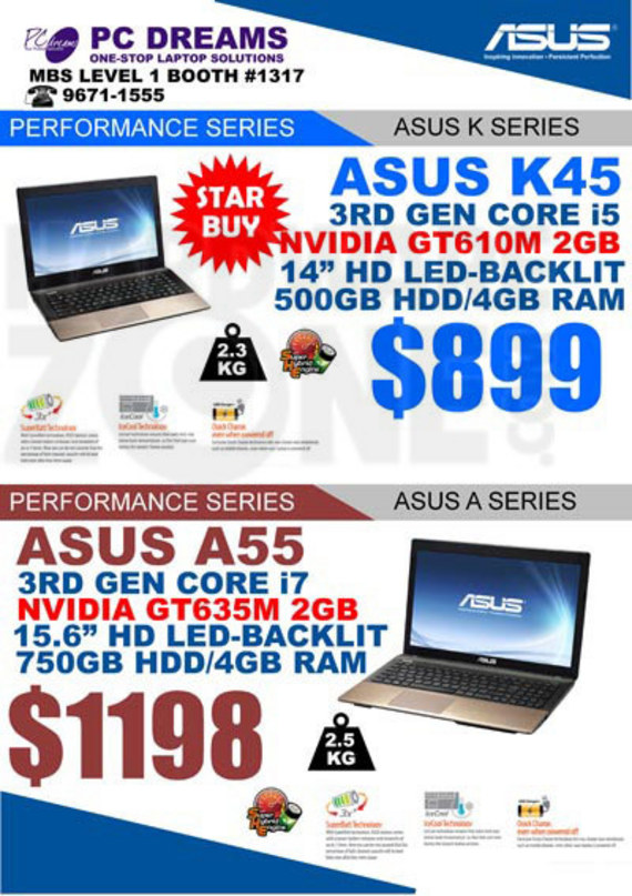 ASUS K/A-series notebooks - page 3