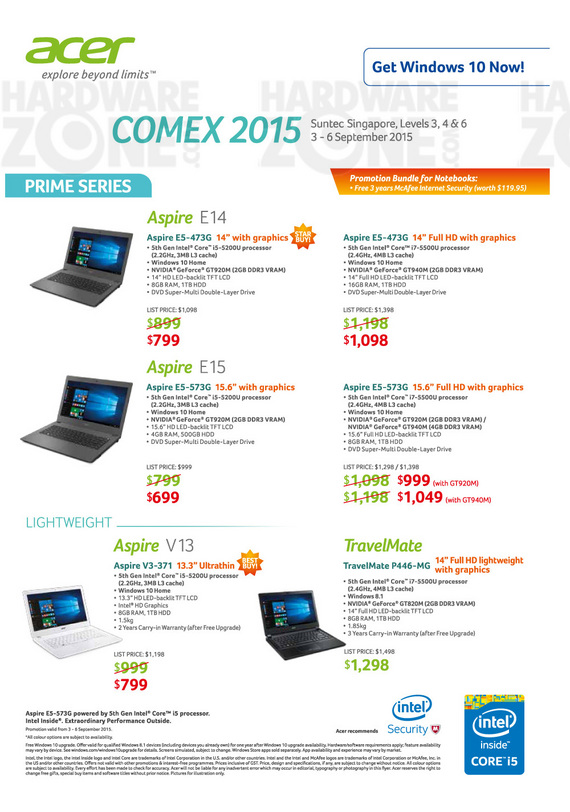 Acer Prime Series Notebooks