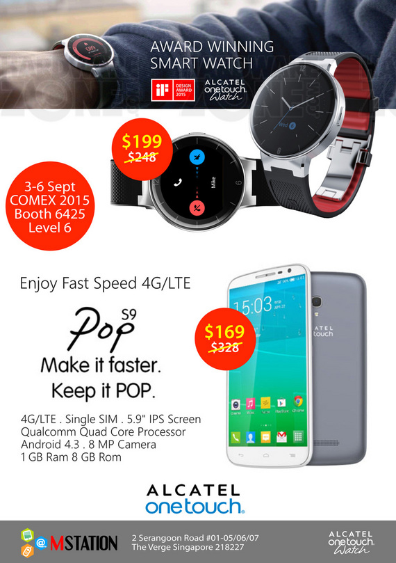 Alcatel Watch & Pop S9
