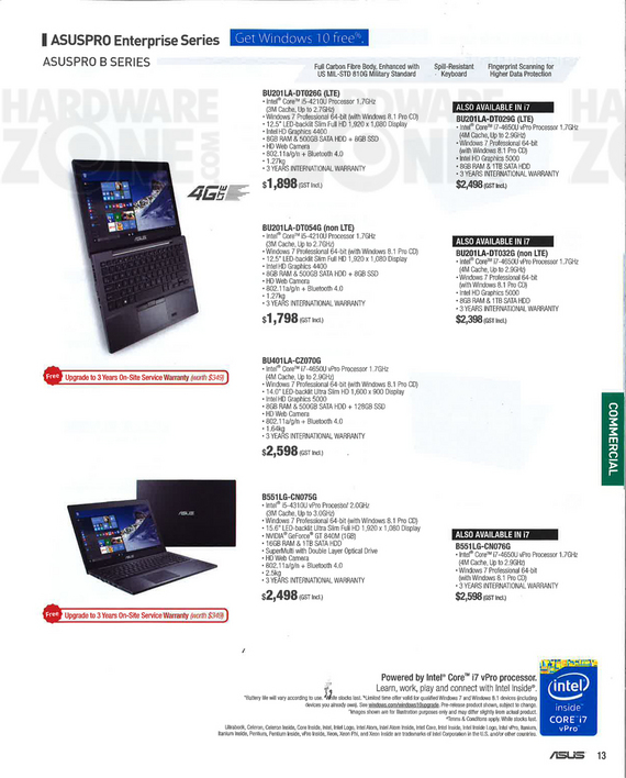 ASUS biz notebooks - page 1