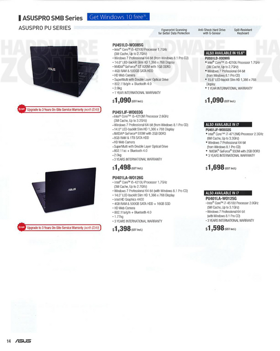 ASUS biz notebooks - page 2