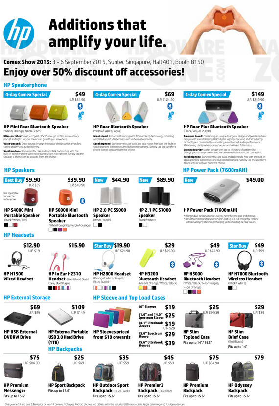 HP Accessories - Pg 1