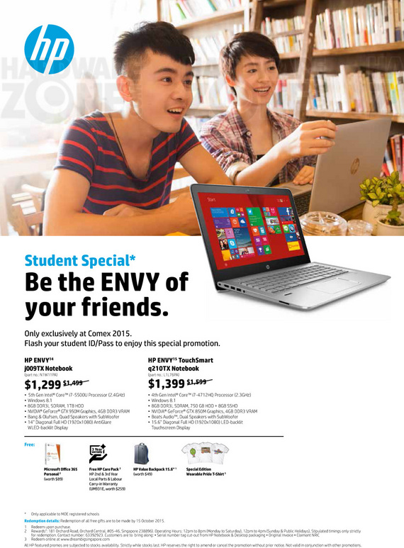 HP Envy student special