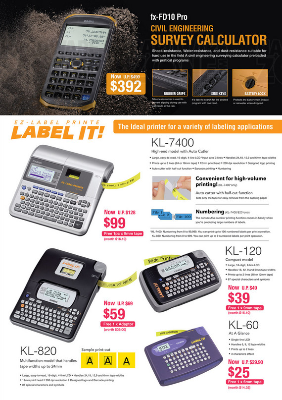 Casio Label Makers - Page 1