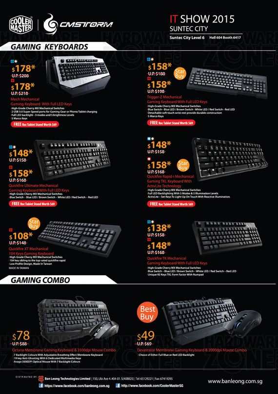 Cooler Master CMStorm Gaming Accessories - Page 2