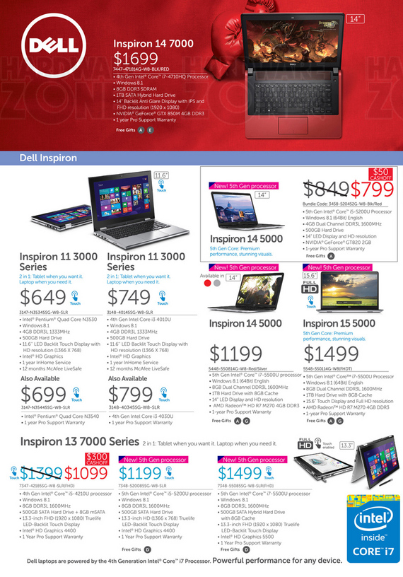 Dell Inspiron Notebooks