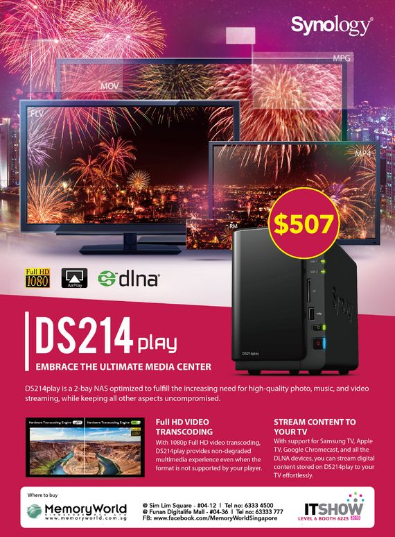 Synology - DS214play Brochures from IT SHOW 2015 Singapore