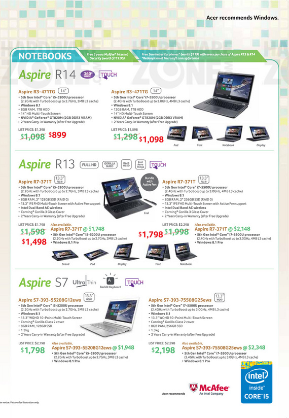 Acer Aspire Notebooks - Page 3