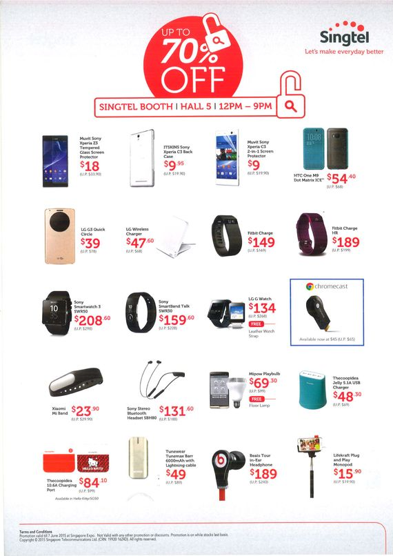 Singtel mobile accessories - page 1