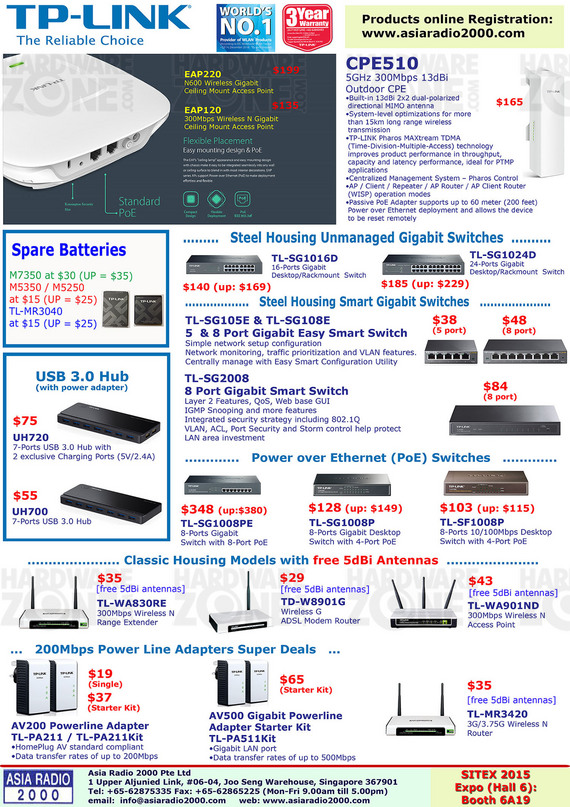 Networking Brochures Page 2/3 - SITEX 2015 Singapore
