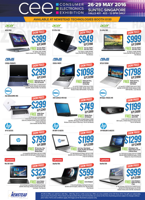 Acer, ASUS, Dell, HP, Lenovo @ Newstead