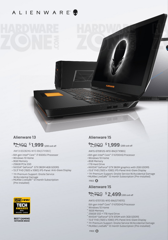 Alienware Laptops - Pg 1
