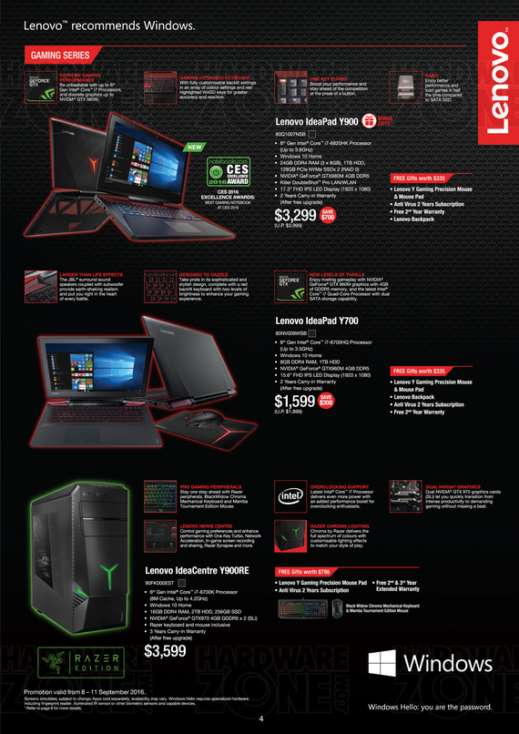 Lenovo Gaming IdeaPad & IdeaCentre - Pg 1