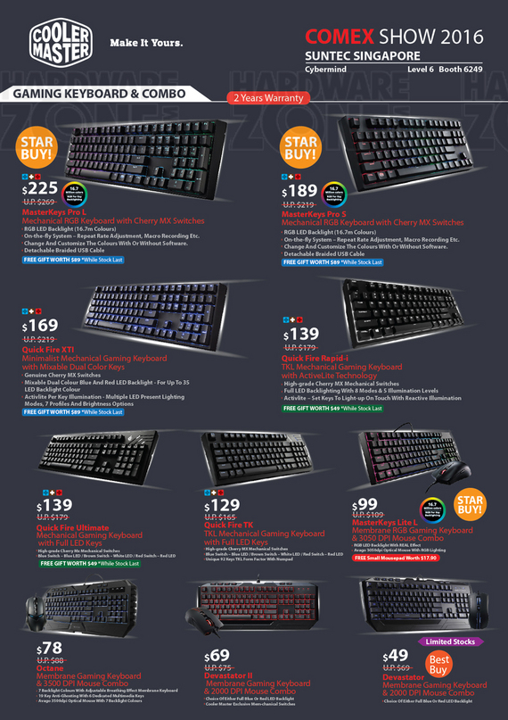 Cooler Master Input Devices - Pg 1