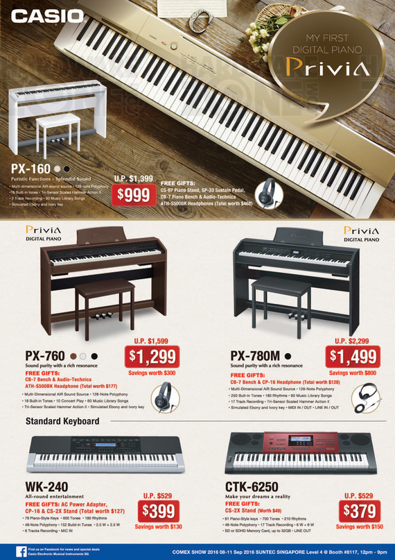 Casio Digital Pianos - Pg 2